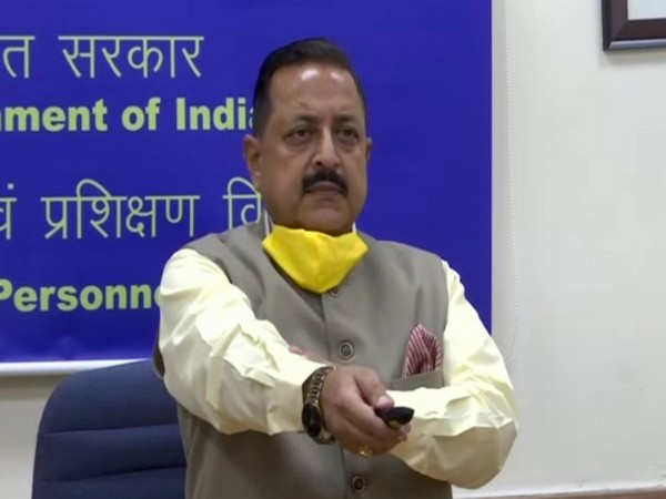 Union Minister Dr Jitendra Singh inaugurating the two bridges in Jammu and Kashmir on Wednesday. [Photo/ANI]