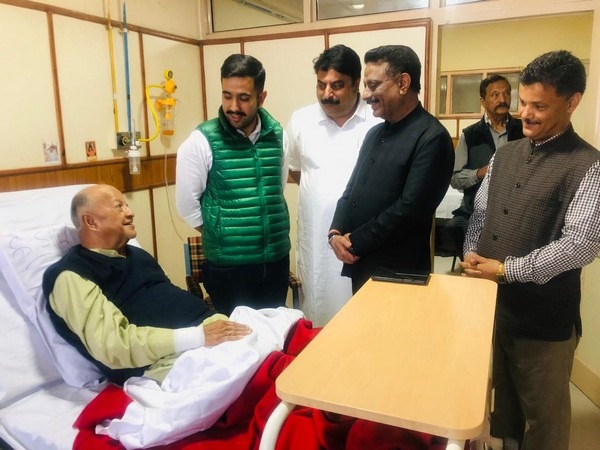 Visual from the hospital where HP former Chief Minister Virbhadra Singh was admitted on Wednesday. (Photo/ANI)