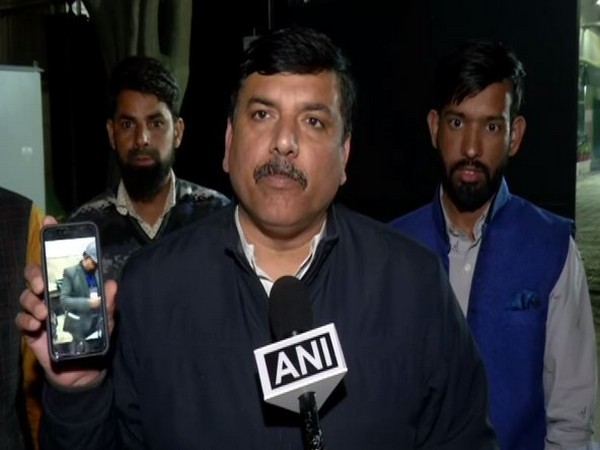 AAP leader Sanjay Singh speaking to ANI on Saturday. Photo/ANI