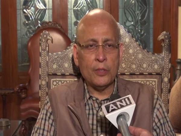 Congress leader Abhishek Manu Singhvi speaking to ANI on Tuesday in New Delhi . Photo/ANI
