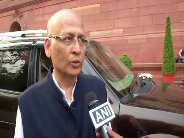 Congress leader Abhishek Manu Singhvi speaking to ANI on Friday in New Delhi. Photo/ANI
