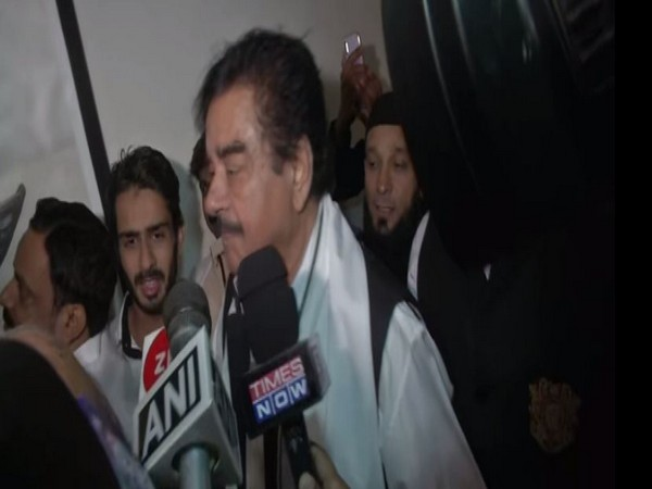 Shatrughan Sinha speaking to reporters in Patna, Bihar on Monday. Photo/ANI