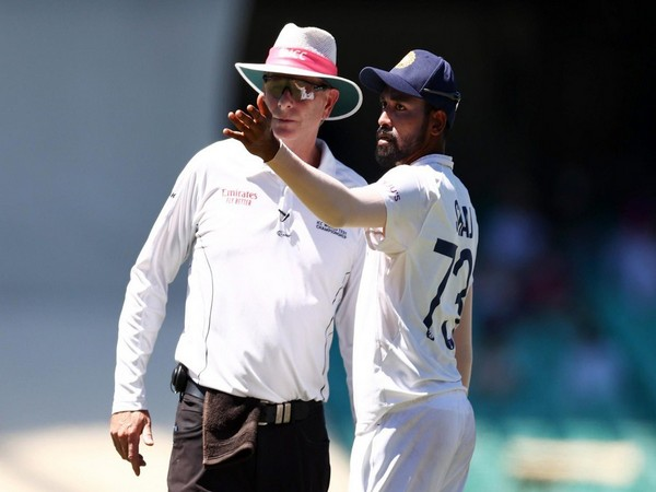 Indian pacer Mohammad Siraj with umpire Paul Reiffel (Photo/ Mohammad Shami Twitter)