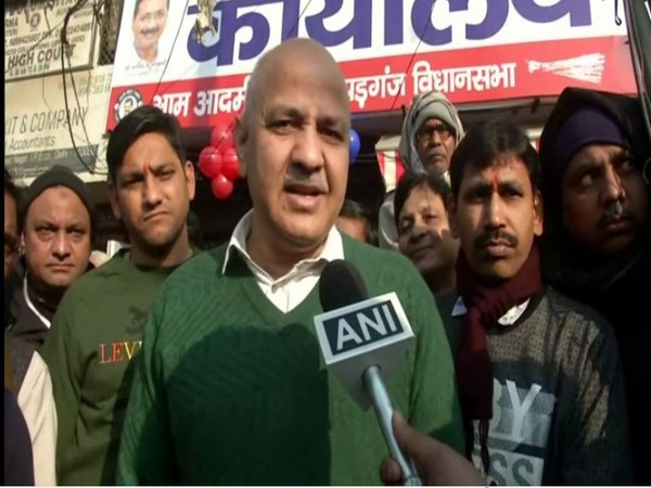 Deputy Chief Minister of Delhi Manish Sisodia speaking to reporters in Delhi on Sunday. (Photo/ANI)