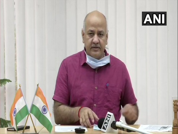 Delhi Deputy Chief Minister Manish Sisodia talking to ANI on Tuesday.