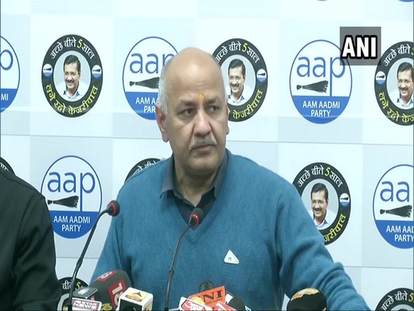 AAP leader Manish Sisodia addressing a press conference in New Delhi on Wednesday.