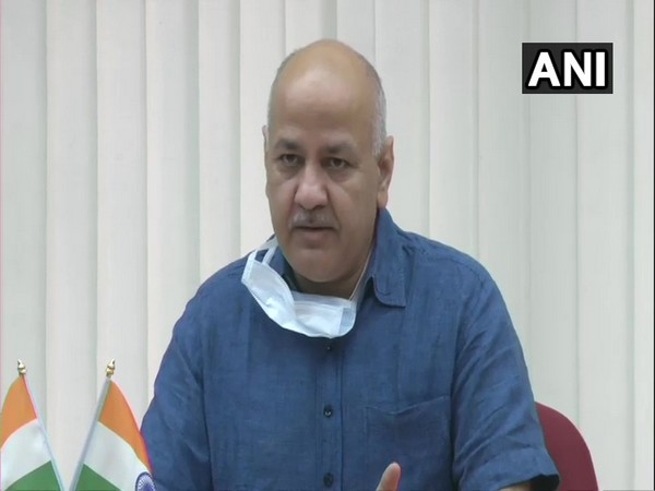 Delhi Deputy Chief Minister Manish Sisodia addressing a press conference on Friday. [Photo/ANI]