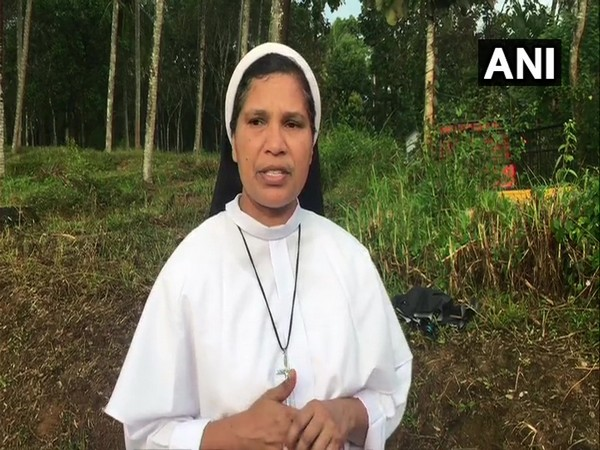 Sister Lucy Kalappura speaking to ANI in Wayanad on Monday.