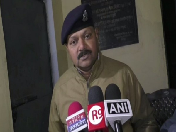 ASP Mahendra Pratap Singh speaking to reporters in Sitapur on Monday. Photo/ANI