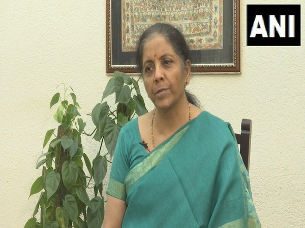 Finance Minister Nirmala Sitharaman while talking to ANI in New Delhi on Wednesday.