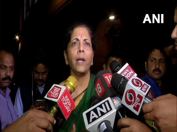 Finance Minister Nirmala Sitharaman speaking to media in New Delhi on Wednesday. (Photo/ANI)