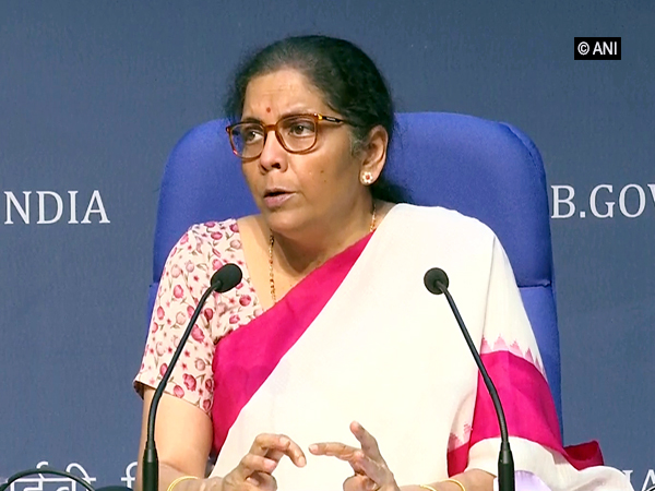 Finance Minister Nirmala Sitharaman during a press conference in New Delhi on Friday.        Photo/ANI
