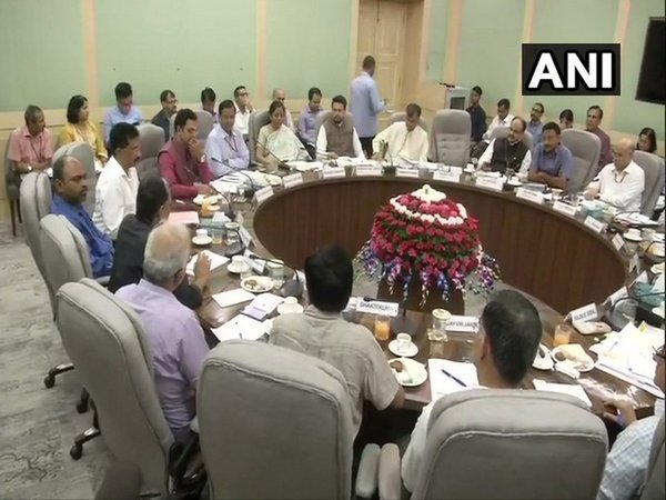 Finance Minister Nirmala Sitharaman during the meeting with different stakeholders in New Delhi on Tuesday. Photo/ANI