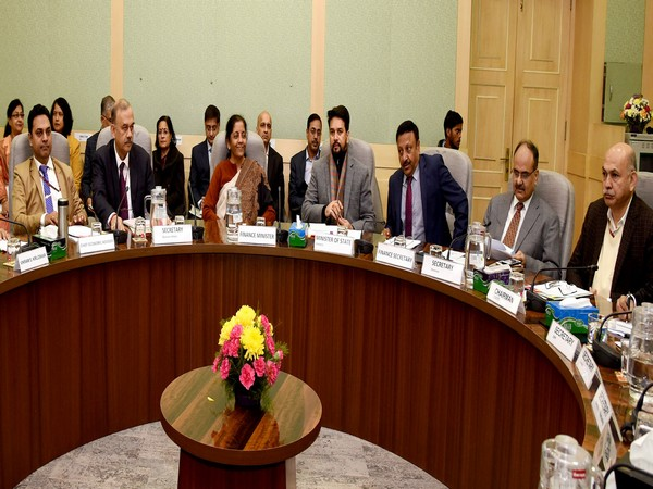 Finance Minister Nirmala Sitharaman holding the pre-Budget consultations in New Delhi on Tuesday