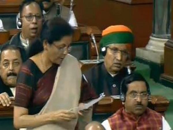 Finance Minister Nirmala Sitharaman in Lok Sabha on Tuesday