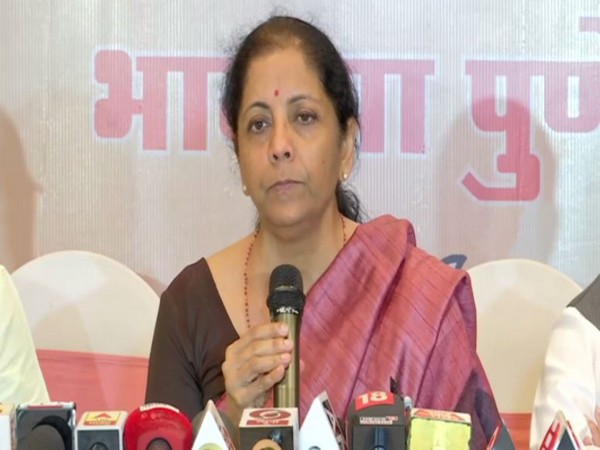 Union Finance Minister Nirmala Sitharaman speaking to reporters in Pune on Friday. Photo/ANI