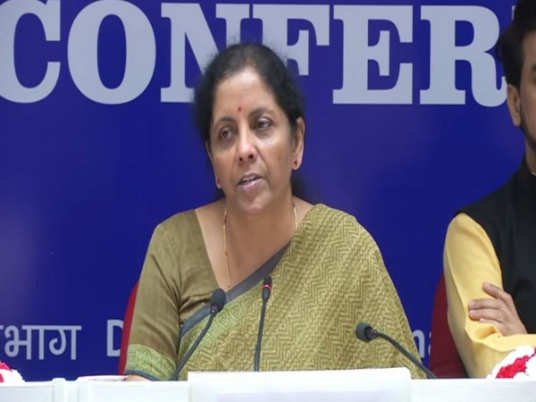 Union Finance Minister Nirmala Sitharaman addressing a press conference in New Delhi on Thursday. (Photo/ANI)