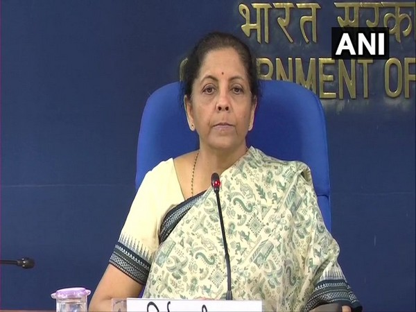Finance Minister Nirmala Sitharaman addressing a press conference in New Delhi on Wednesday. (Photo/ANI)