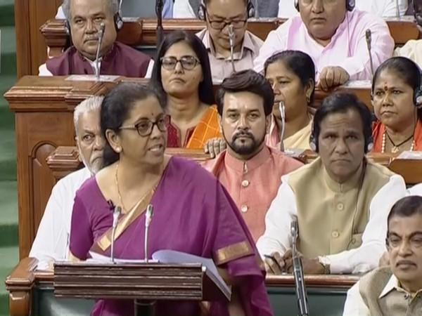 Union Finance Minister Nirmala Sitharaman presents Union Budget 2019-20 in Parliament (Courtesy Lok Sabha TV)