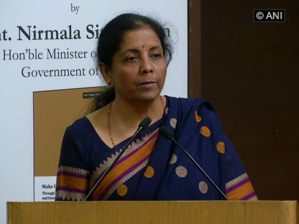Defence Minister Nirmala Sitharaman attending a DRDO event in New Delhi on Friday. Photo/ANI
