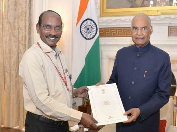 ISRO and Space Commission Chairman Dr K Sivan called on President Ram Nath Kovind on Friday. Photo/ANI