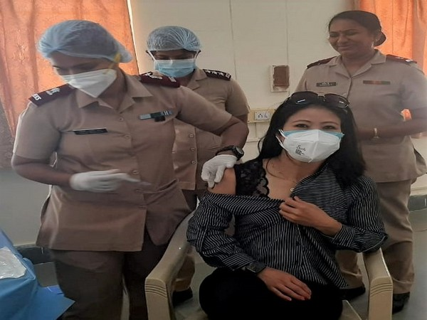 Mary Kom receives first dose of Covid-19 vaccine (Photo/ BFI)