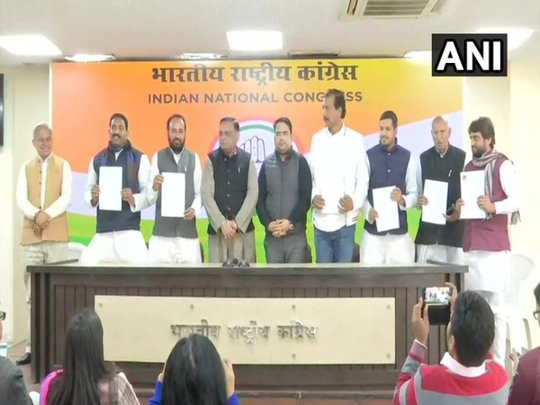 Six BSP MLAs formally take membership of Congress in Delhi. Photo/ANI