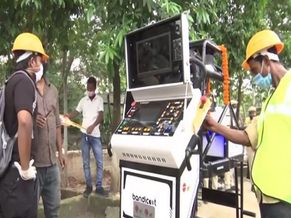 Robotic mechanism for removal of sludge gifted by IOC. [Photo/ANI]