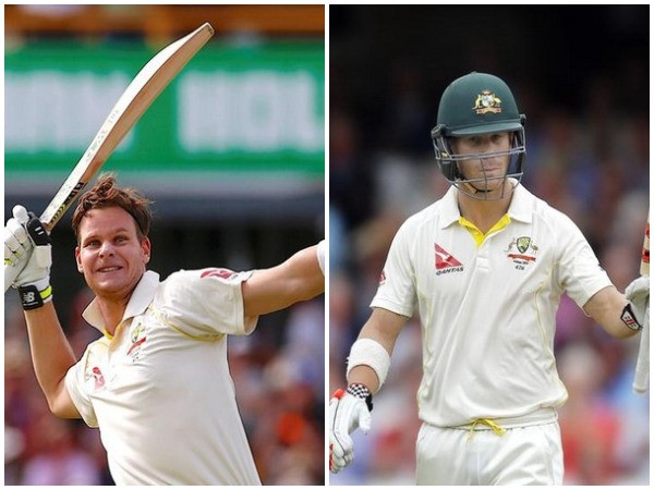 Australia batsmen Steve Smith (left) and David Warner (right)