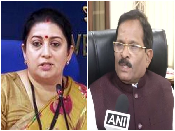 Union Minister for WCD Smriti Irani and Minister of State for AYUSH Shripad Naik