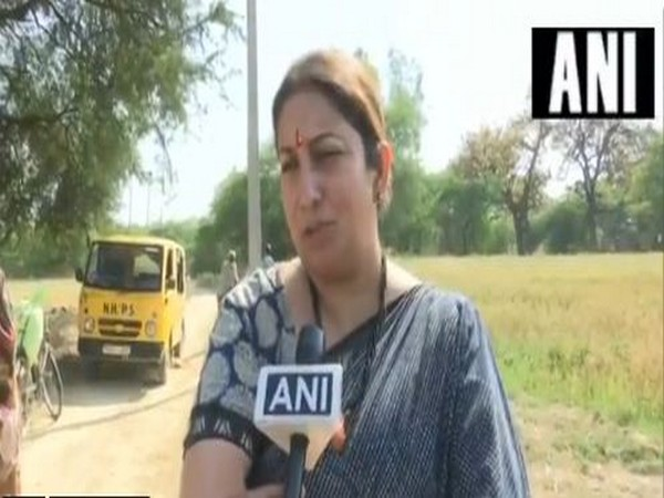 Union Minister Smriti Irani speaking to ANI on Thursday.