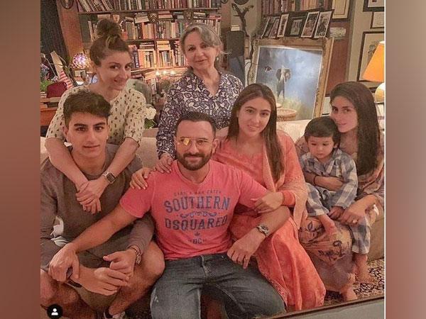 Soha Ali Khan, Sharmila Tagore, Ibrahim Ali Khan, Saif Ali Khan, Sara Ali Khan, Kareena Kapoor Khan and Taimur, image courtesy, Instagram