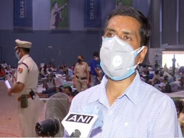 Sohan Lal, Executive Magistrate, Yamuna Sports Complex (Shelter Home) speaking to ANI on Friday. Photo/ANI