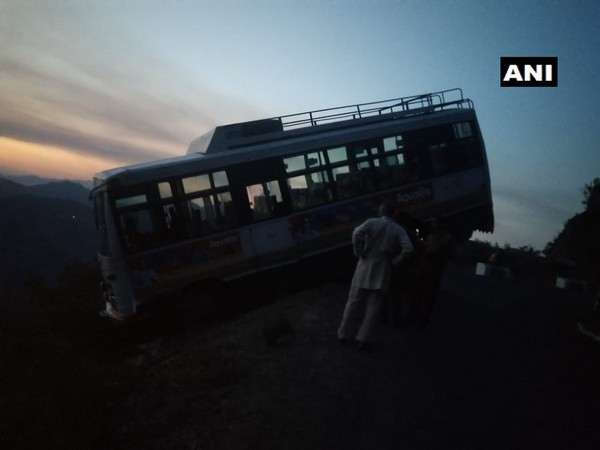 The HRTC bus that veered off road