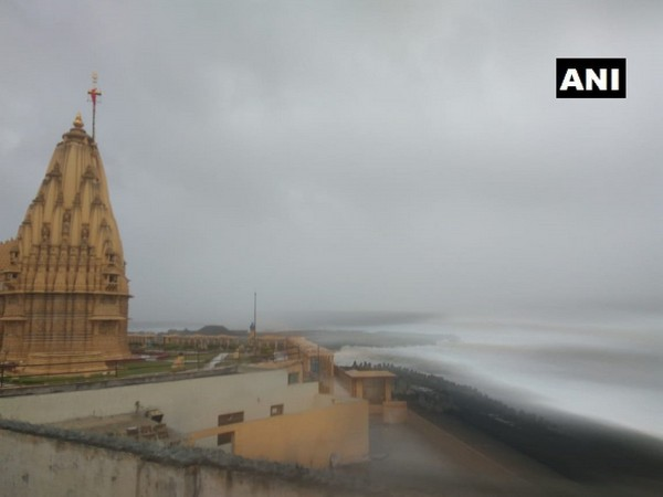 Daily rituals remain unaffected at Somnath Temple despite cyclone alert.