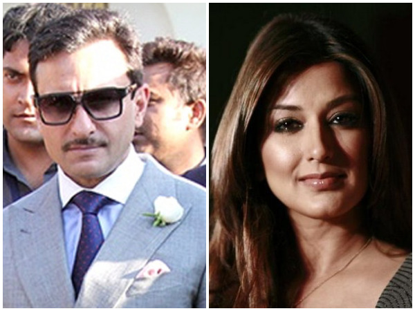 Saif Ali Khan (left) and Sonali Bendre (right)