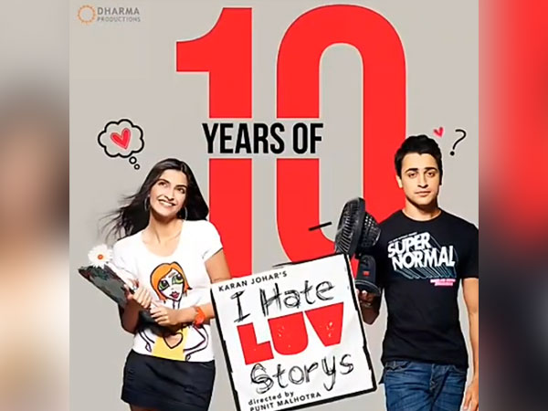 Sonam Kapoor and Imran Khan starrer 'I Hate Luv Storys' completes 10 years today (Image source: Instagram)