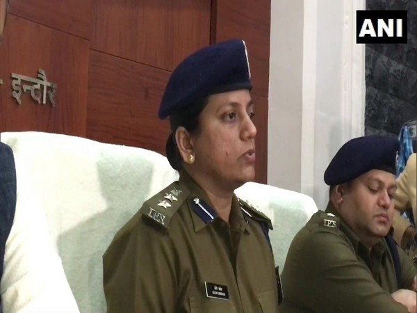 Indore Senior Superintendent of Police Ruchi Vardhan Mishra addressing a press conference on Sunday. (Photo/ANI)