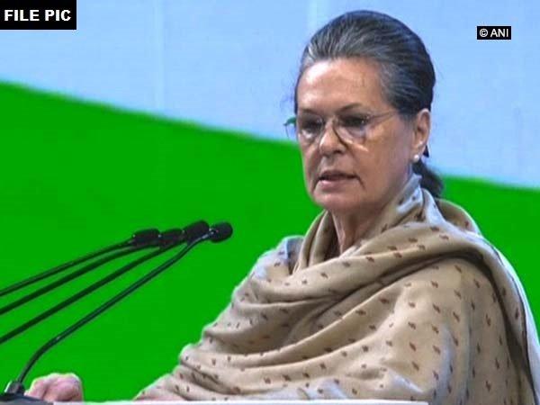 Congress president Sonia Gandhi