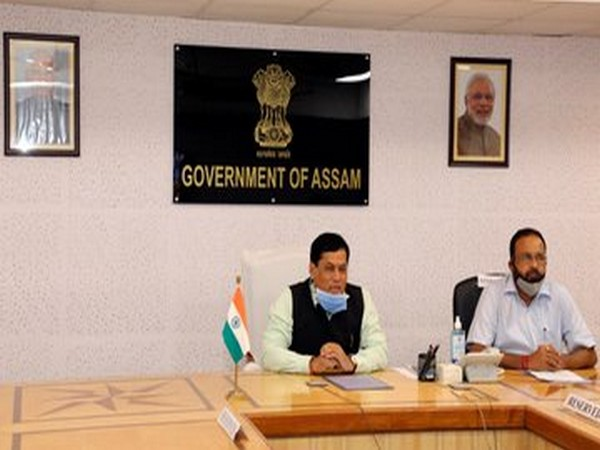 Assam Chief Minister Sarbananda Sonowal attending the meeting held on Wednesday. (Photo/ANI)
