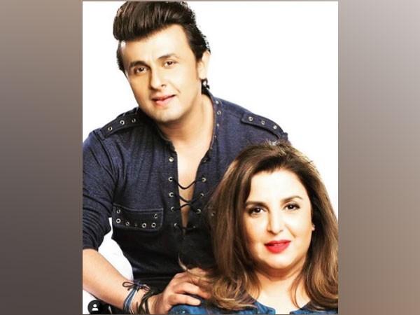 Filmmaker Farah Khan with singer Sonu Nigam (Image Source: Instagram)
