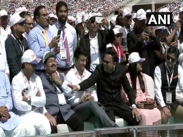 BCCI President Sourav Ganguly and BCCI Secretary Jay Shah at Motera Stadium.