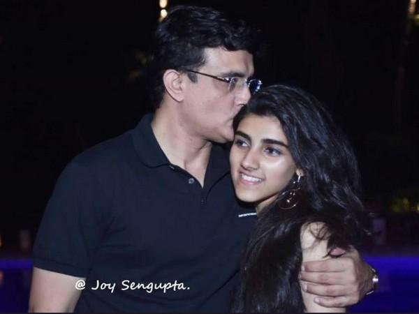 Sourav Ganguly with daughter Sana (Photo/ Sourav Ganguly Twitter)
