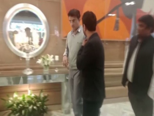 BCCI President Sourav Ganguly (in grey) at the Apex Council meeting venue.