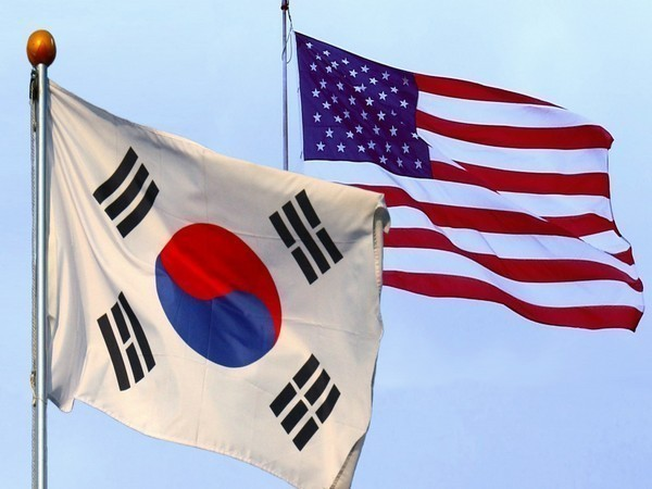 South Korea-United States Flags