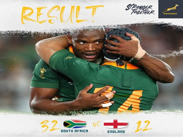 With this win, South Africa equals New Zealand's record of a country with most World Cup titles.