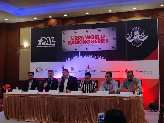 Dignitaries from PAL and Sowparnika Projects announcing India's first first-ever International Ranking Series
