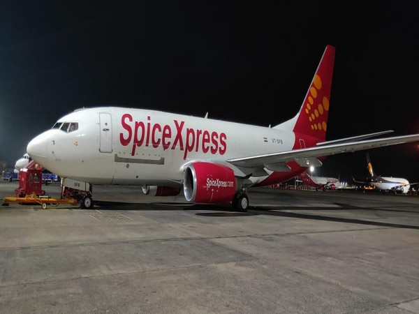 Visual of SpiceXpress the air cargo arm of SpiceJet. (Photo/ANI)