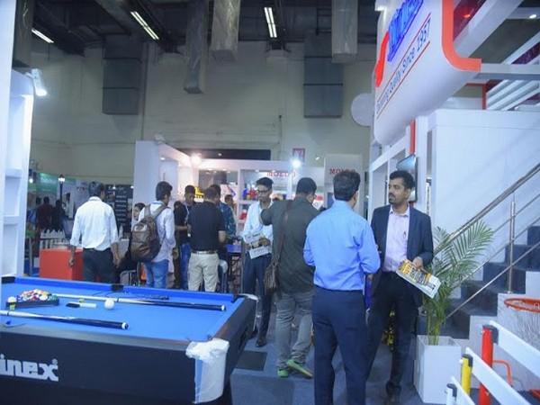 Visitors enjoying the  Sport India Exhibition 2018