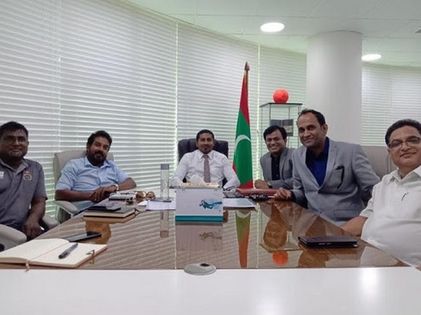 Sports Minister of Maldives Ahmed Mahloof and President of Maldives Cricket Mohamed Aflah along with Don Cinema Founders Mehmood Ali and Satish Kumar